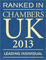 Ranked in Chambers UK 2013 - Leading Individual